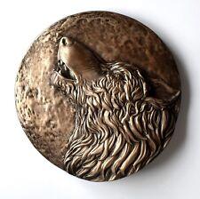 Viking Fenrir Norse Odin Wolf Howling Bronze Sculpture Wall Mount Art Decor Gift