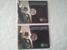 2 X Royal Mint £20 Pound Coin W.Churchill.Brand New Mint Sealed. FREE SIGN POST