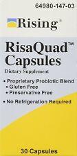 RISING PHARMACEUTICALS Risaquad Probiotic Capsules, 30 Count