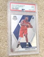 ZION WILLIAMSON 2019-20 PANINI MOSAIC RED JERSEY #209 RC ROOKIE VARIATION PSA 9