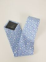 Giorgio Armani 100 % Silk Tie Light Blue Floral Flower MADE in ITALY
