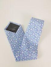 Giorgio Armani 100 % Silk Tie Light Blue Floral Flower MADE in ITALY