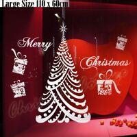Large Shop Window Display Christmas Tree & Present Sticker Wall Art Decoration