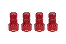 4 TRUE SPIKE RED ALUMINUM TPMS WHEEL RIM AIR VALVE STEM COVERS CAP SET FOR MAZDA
