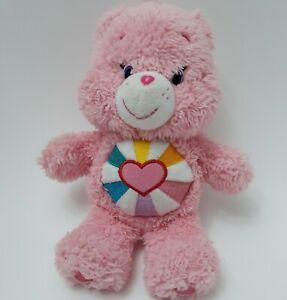 "Hopeful Heart Care Bear Plush Stuffed Animal Pink 2015 Just Play 9"" Bean Bag"