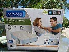 AeroBed® One-Touch Comfort™ Air Mattress (Queen) 17 inch Brand New