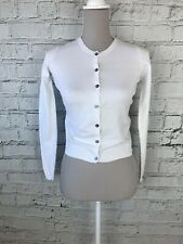 NEXT - White Long Sleeve Button Down Cardigan - Girls - 12 Years