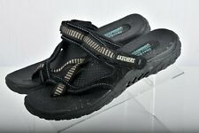 NWOT Skechers Women's Reggae-Seize The Day-Toe Thong Size 9 Color Black