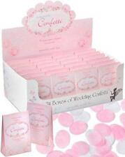Vintage rose pétale papier mariage confettis x24 paquets