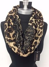New Women Paisley Animal Printed Infinity Scarf Circle Loop Shawl Wrap Camel