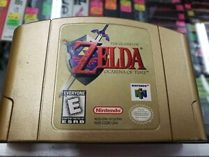 Legend of Zelda: Ocarina of Time, Gold Cartridge (N64, Authentic) Tested