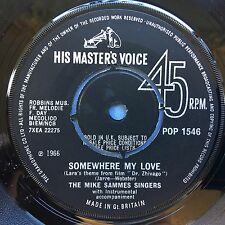 Le Sammes Mike Singers - Somewhere My Love / What Do Oui? POP-1546 Ex