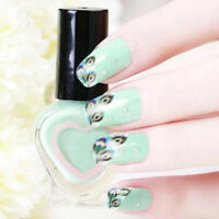 Fashion Peacock Feather Nail Art Water Transfer Decals Sticker French Tips Decor