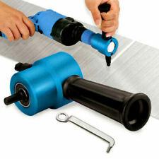 Double Head Sheet Metal Nibbler Cutter Cutting Tool Saw Power Drill Attachment