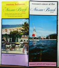 1966 Nassau Beach Hotel vintage Bahamas travel brochure