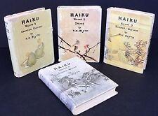 Haiku by R. H. Blyth - 4 Volume Set - Japanese Poetry - 1952 - 1963