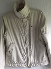 Womens Lacoste Padded Coat Jacket Beige Excelent Condition Lacoste Size 42 Large