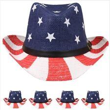 Stars Stripes USA American Flag Buckle Drifter Cowboy Hat western cap men women