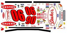 #90 Rick Mast Sauer's Ford 1/43rd Scale Slot Car Waterslide Decals