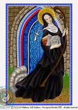 © ART - Portrait of St Saint Hilda of Whitby - Original Artist Print by Di