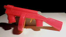 Plastic Red and Yellow Tommy Gun marked Lional USA over six inches long (3095)