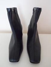 Black leather Pierre Chupin Paris Ankle Boots size 5