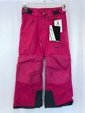 Arctix Youth Reinforced Insulated Water-Resistant Snow Pants Pink Medium 10-12