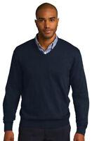 Port Authority Men's V Neck Long Sleeve Winter Sweater XS-4XL. SW285