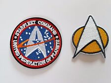 Star Trek Starfleet command badge twin pack Iron On Patch Sew on Embroidered New