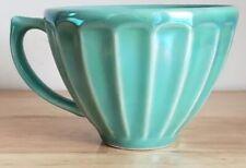 Anthropologie French Cafe Au Lait Bowl W Handle,Latte Mug, Seafoam Turquoise New
