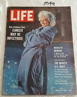 LIFE MAGAZINE 1962 june 22,MARILYN MONROE COVER & FEATURE,US EDITION