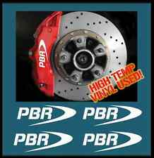 HIGH TEMP PBR BRAKE CALIPER DECAL STICKER SET X4 RALLY DRIFT JDM MOTORSPORT