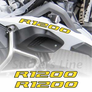 Adesivi BMW R1200 GS Adventure scritte adesive R1200 Becco Anteriore Giallo Nero