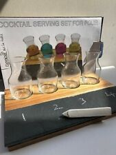 German Cocktail Set 7 Pieces New Chalk Drink Glasses And Slate Grunwerg