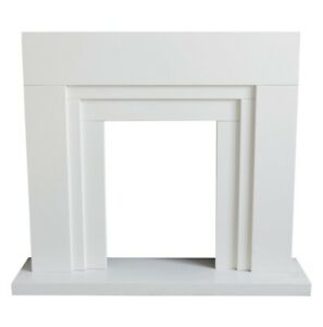 Innsbruck White Fire Surround Set - Ideal for electric inset fires