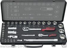"""KS Tools Ultimate Plus Caja de Juego Enchufes 1/2"""" Set llaves conexión, 34 PC."""
