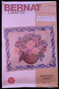 Bernat Rug Hook Kit #268-Cape Cod Basket New