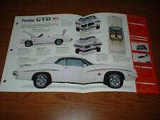 ★★1971 PONTIAC GTO JUDGE CONVERTIBLE SPEC SHEET BROCHURE PHOTO POSTER 71 70 69★★