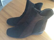 AQUATALIA BROWN SUEDE ANKLE BOOTS SIZE 40/UK7