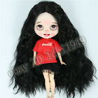 Only Wig 9-10 Blythe Doll Wig Long Split Black Curly Hair