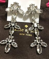 NWT Authentic Kate Spade Ice Queen Chandelier Earrings & Bag! $158