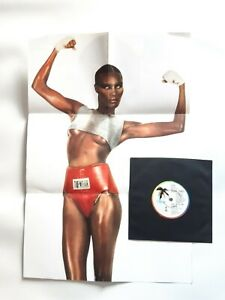 """GRACE JONES Pull Up To The Bumper UK 7"""" Limited Poster Sleeve Clean Vinyl"""