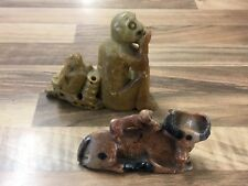 Soapstone Carving Monkeys And Water Buffalo