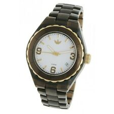 New Adidas Mini Cambridge Brown Acrylic Band Date Women Watch ADH2553 35mm $75