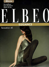 ELBEO SENSATION 40, collants, semi-opaque, léger brillant, gris, II = 40-42