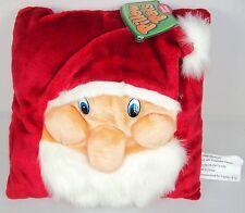 Pillow Pals Soft Plush Santa Claus Pillow w/3D Hat & Facial Features Free Ship!