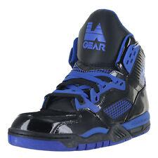 LA Gear Retro Kaj Hi-Top LAKA89-2 Black Royal Blue Mens US size 11