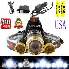 USA 30000LUMENS 3X T6 LED Headlamp Head Light Torch Lamp 2x 18650 Battery