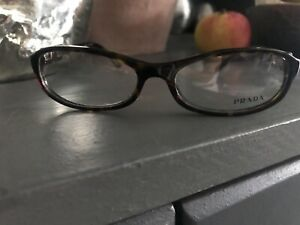 Brand New Brown Tortoise Shell Prada Reading Glasses With Case And Cloth
