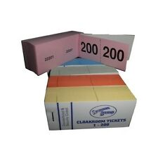 Raffle, Cloakroom Tickets, number 1-200 book, tombola, draw,Jumbo brand,numbered